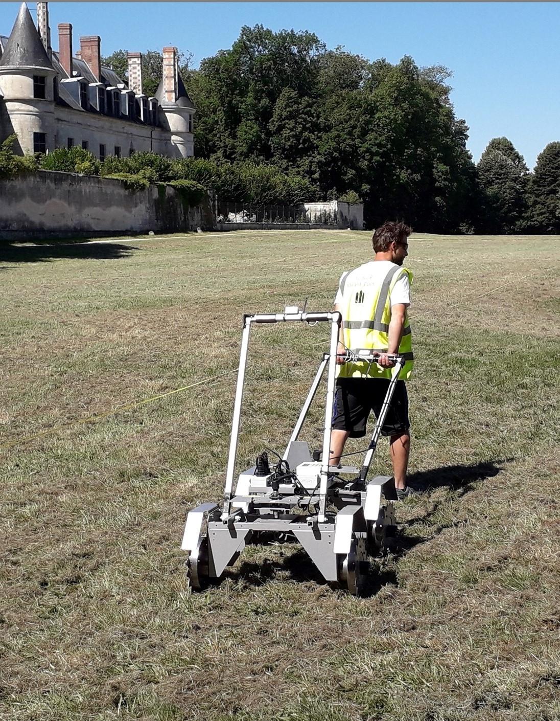 Villers-Cotterêts kastély geofizikai vizsgálat