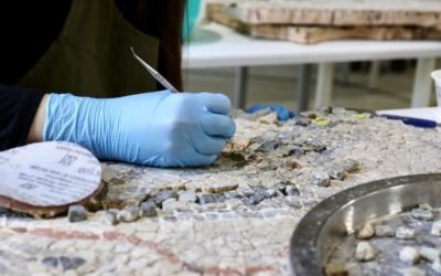 Megmentik Magyarország legnagyobb római kori mozaikját