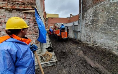 Archaeological excavations on the Groningen fish market