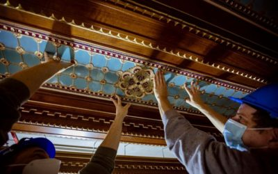 Újra régi pompájában ragyog a királyi palota Szent István terme