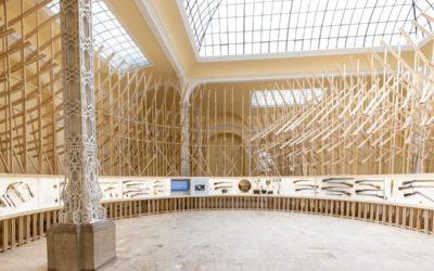 Erdő épült a vadászati kiállításban